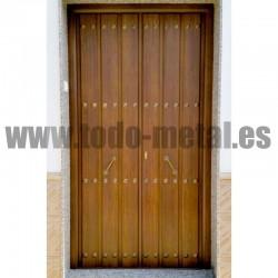 Puerta de calle modelo serrania for Modelos de puertas de calle
