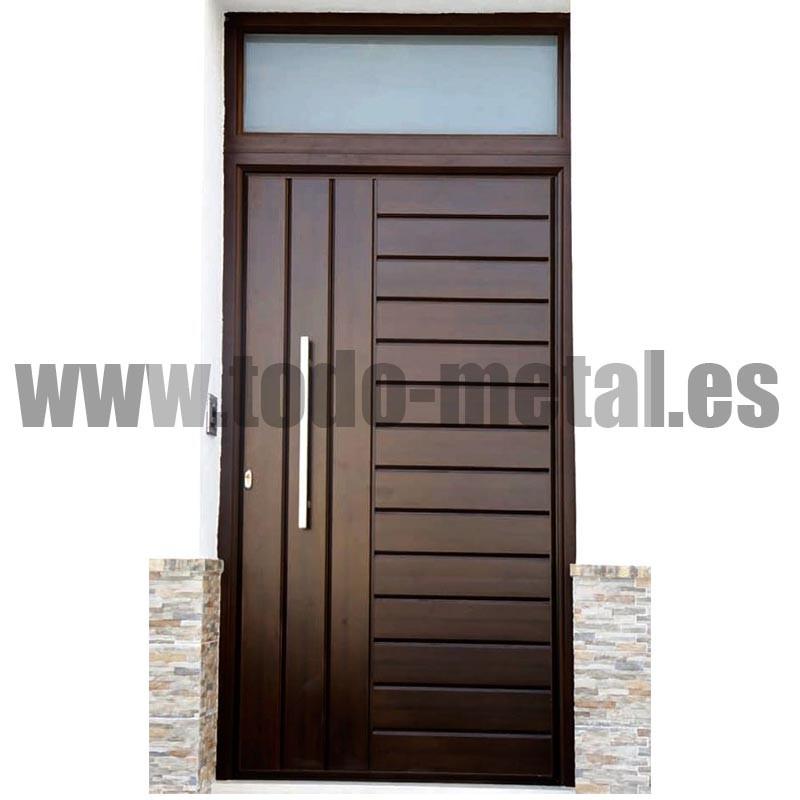 Modelos de puertas de hierro cool puerta de chapa lisa for Modelos d puertas